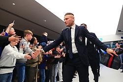 Ciro Immobile of Italy greets fans on arrival at the Etihad Stadium - Mandatory by-line: Matt McNulty/JMP - 23/03/2018 - FOOTBALL - Etihad Stadium - Manchester, England - Argentina v Italy - International Friendly