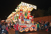 Elf Made by the Globe Carnival Club at the 2011 Bridgwater Carnival. Bridgwater Carnival is an annual event to raise money for local charities. It is widely reputed to be the largest illuminated carnival in the world.