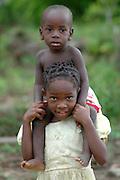 Young children play around the coastal village of Chitimba. . Chitimba, Malawi, Africa..© Demelza Cloke
