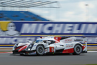 Anthony Davidson (GBR) / Sebastien Buemi (CHE) / Kazuki Nakajima (JPN) #5 Toyota Gazoo Racing Toyota TS050 Hybrid, during during the first hour or the race  as part of the WEC 6 Hours of Silverstone 2016 at Silverstone, Towcester, Northamptonshire, United Kingdom. April 17 2016. World Copyright Peter Taylor.
