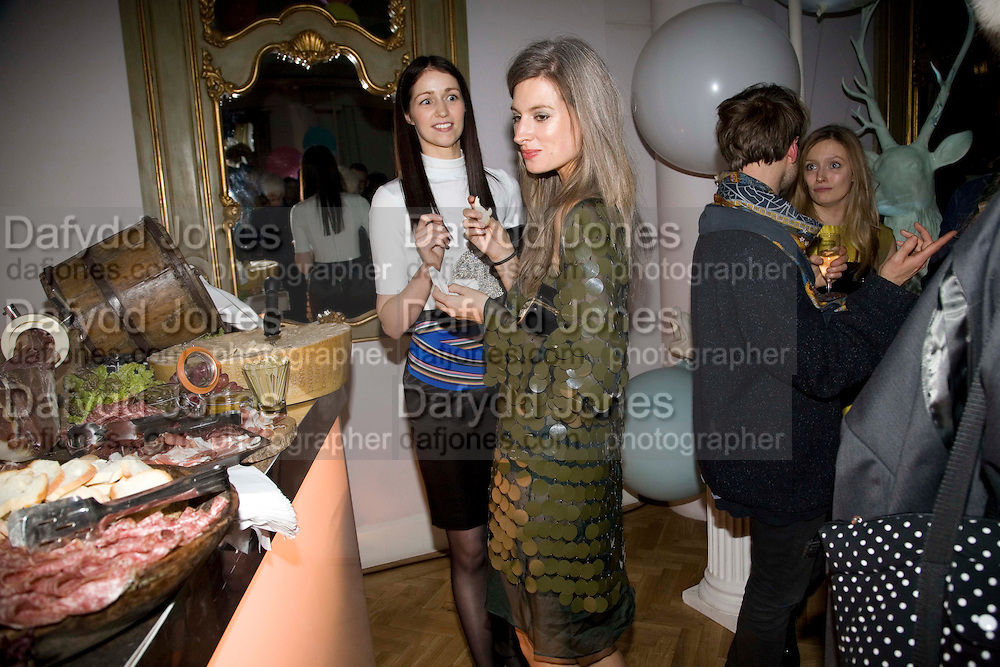 NINA GODFREY; SARAH HARRIS, Vogue Fantastic  Fashion Fantasy Party in association with  Van Cleef and Arpels and to celebrate Vogue's secret address book. 1 Marylebone Rd. London. 3 November 2008 *** Local Caption *** -DO NOT ARCHIVE -Copyright Photograph by Dafydd Jones. 248 Clapham Rd. London SW9 0PZ. Tel 0207 820 0771. www.dafjones.com