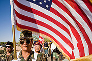 28 MAY 2007 -- PHOENIX, AZ: Vietnamese veterans who fought with Americans during the war in Vietnam march in the honor guard during the Memorial Day ceremony at the National Memorial Cemetery in Phoenix, AZ, Monday.  Photo by Jack Kurtz/ZUMA Press