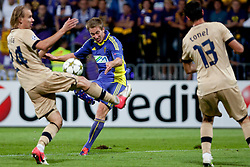 Robert Beric #32 of Maribor during Play-offs for Champions League between NK Maribor (Slovenia) and GNK Dinamo Zagreb (Croatia), on August 28, 2012, in Maribor, Slovenia. (Photo by Urban Urbanc / Sportida.com)