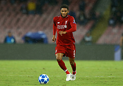 October 3, 2018 - Naples, Italy - SSC Napoli v FC Liverpool - UEFA Champions League Group C.Joe Gomez of Liverpool at San Paolo Stadium in Naples, Italy on October 3, 2018. (Credit Image: © Matteo Ciambelli/NurPhoto/ZUMA Press)