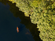 Canoeing on Fern Lake in Leicester, Vermont.