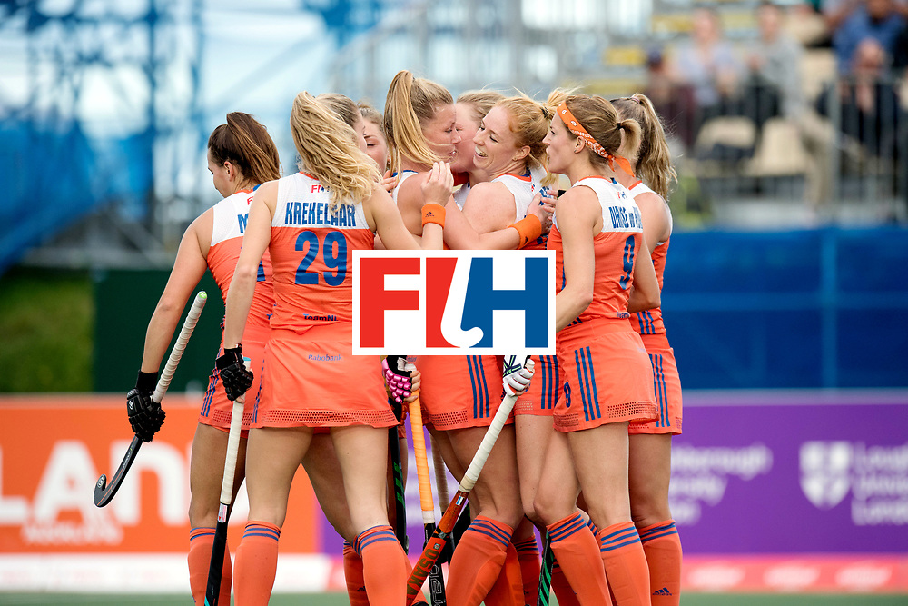 AUCKLAND - Sentinel Hockey World League final women<br /> Match id: 10299<br /> 09 NED v KOR (Pool A)<br /> Foto:  Goal  celebration, Margot van Geffen scores.<br /> WORLDSPORTPICS COPYRIGHT FRANK UIJLENBROEK