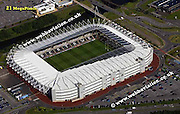 aerial photograph of the Liberty Football Stadium  Swansea Wales UK