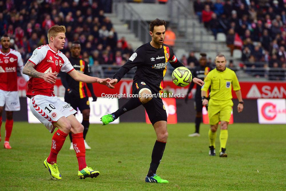 Jerome LE MOIGNE / Gaetan CHARBONNIER - 25.01.2015 - Reims / Lens  - 22eme journee de Ligue1<br />Photo : Dave Winter / Icon Sport