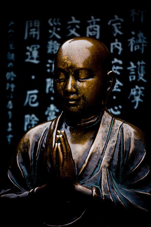 Golden statue of Buddha in Sensoji Temple, Asakusa, Tokyo