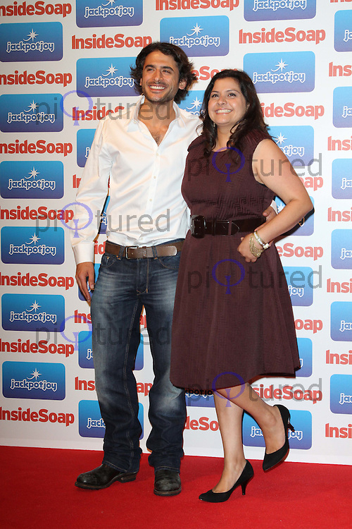 Marc Elliott; Nina Wadia Inside Soap Awards 2011, Gilgamesh, The Stables Market, Camden Town, London, UK. 26 September 2011 Contact: Rich@Piqtured.com +44(0)7941 079620 (Picture by Richard Goldschmidt)
