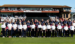 England Women sing the national anthem ahead of their World Cup 2017 match with Sri Lanka Women at Taunton - Mandatory by-line: Robbie Stephenson/JMP - 02/07/2017 - CRICKET - County Ground - Taunton, United Kingdom - England Women v Sri Lanka Women - ICC Women's World Cup Group Stage