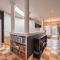 This beautiful and unique family home in Dartmouth features a stunning open concept family room  with a skylight down to the kitchen. There's a hot tub too. This home is a must see and was photographed for Denise Brown of Remax Nova as part of her complete marketing strategy for this fabulous property.