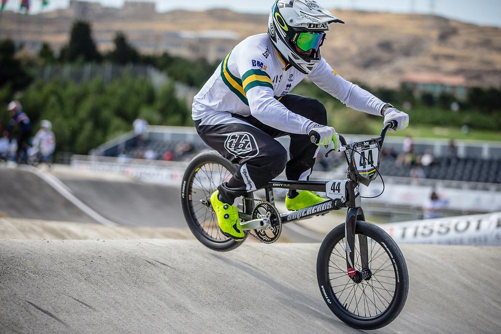 Men Elite #44 (DEAN Anthony) AUS the 2018 UCI BMX World Championships in Baku, Azerbaijan.