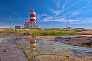 Pointe-des-Monts lighthouse along the North Shore of the Gulf of St. Lawrence<br />Pointe-des-Monts<br />Quebec<br />Canada
