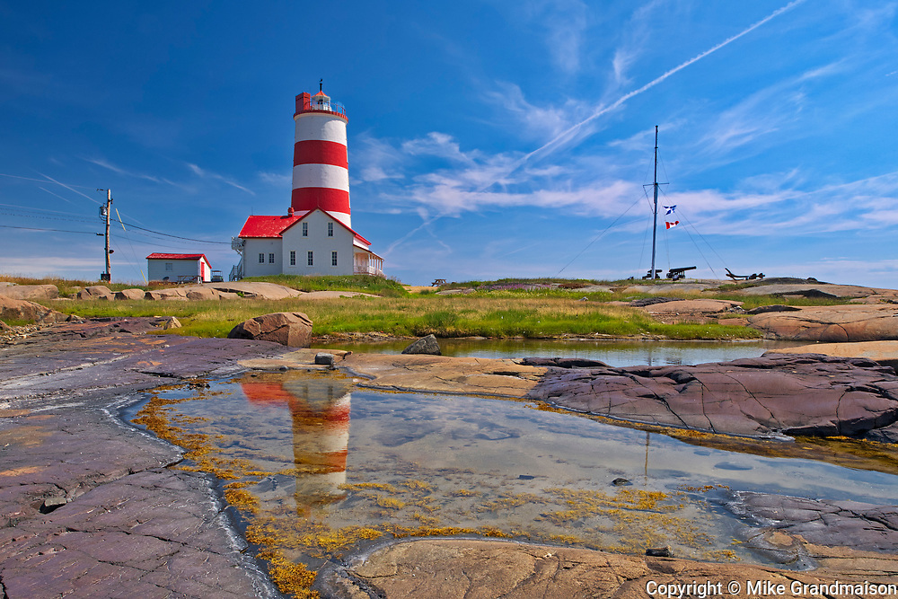 Pointe-des-Monts lighthouse along the North Shore of the Gulf of St. Lawrence<br />