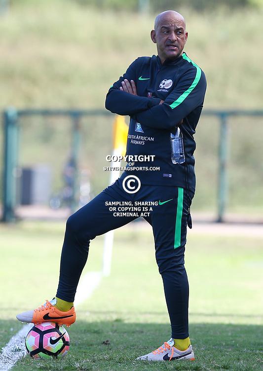 Owen Da Gama during the Bafana Bafana Training at People's Park, Moses Mabhida Stadium in Durban,21st March 2017 (Steve Haag)