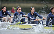 Putney, GREAT BRITAIN,  2010 Oxford UBC left, Martin WALSH, Tyler WINKLEVOSS, Cameron WINKLEVOSS, during the  2010  Varsity/Oxford University  vs Leander Club, raced over the championship course. Putney to Mortlake, Sat. 20.03.2010. [Mandatory Credit, Peter Spurrier/Intersport-images]