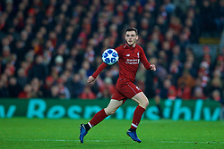 LIVERPOOL, ENGLAND - Tuesday, December 11, 2018: Liverpool's Andy Robertson during the UEFA Champions League Group C match between Liverpool FC and SSC Napoli at Anfield. (Pic by David Rawcliffe/Propaganda)