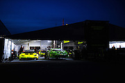 June 25 - 27, 2015: Lamborghini Super Trofeo Round 3-4, Watkins Glen NY. O'Gara Motorsport working late into the night.