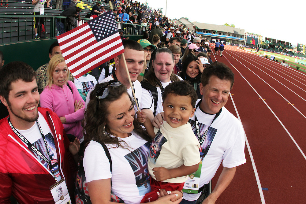 Ryan Bailey's family trackside after Bailey makes USA Olympic team 100 meters