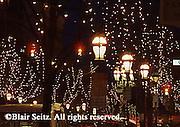 Historic Bethlehem, PA, Christmas lights and decorations,