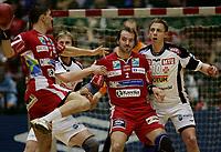 Håndball - 30 desember  2006 , <br /> Oslo Spektrum , NM finale menn ,    <br /> Haugaland  v  Sandefjord TIF<br />  <br /> Foto:Dagfinn Limoseth - Digitalsport<br /> <br /> LR Milorad Despotovic , Ronnie Smedvik , Haugaland og  <br /> Håvard Augensen , Sandefjord