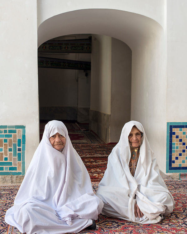 Portrait of two women after the pray