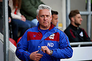 Scunthorpe United's interim manager Nick Daws before the EFL Sky Bet League 1 play off second leg match between Rotherham United and Scunthorpe United at the AESSEAL New York Stadium, Rotherham, England on 16 May 2018. Picture by Nigel Cole.