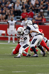 02 September 2017:   Anthony Scaccia looks for room to run during the Butler Bulldogs at  Illinois State Redbirds Football game at Hancock Stadium in Normal IL (Photo by Alan Look)