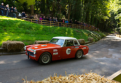 Boness Revival hillclimb motorsport event in Boness, Scotland, UK. The 2019 Bo'ness Revival Classic and Hillclimb, Scotland's first purpose-built motorsport venue, it marked 60 years since double Formula 1 World Champion Jim Clark competed here.  It took place Saturday 31 August and Sunday 1 September 2019. 172 MG Midget