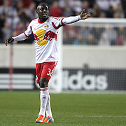 Ibrahim Sekagya, New York Red Bulls, in action during the New York Red Bulls V Houston Dynamo , Major League Soccer second leg of the Eastern Conference Semifinals match at Red Bull Arena, Harrison, New Jersey. USA. 6th November 2013. Photo Tim Clayton