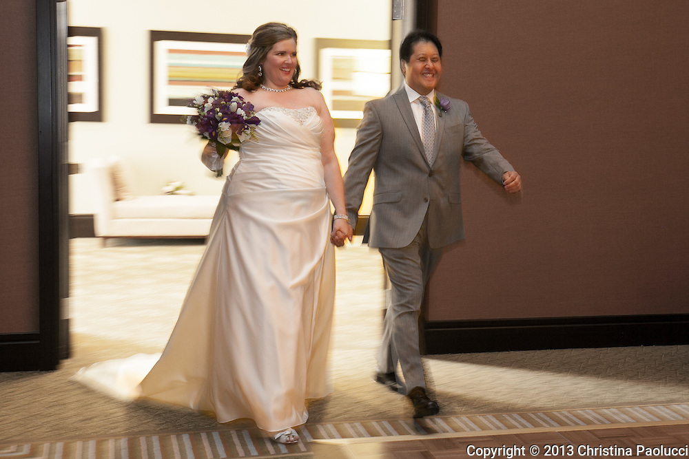 The wedding of Amy Nyhan and Marc Obregon Saturday August 3rd, 2013 at the Hilton Polaris in Columbus, Ohio. (Christina Paolucci, photographer).
