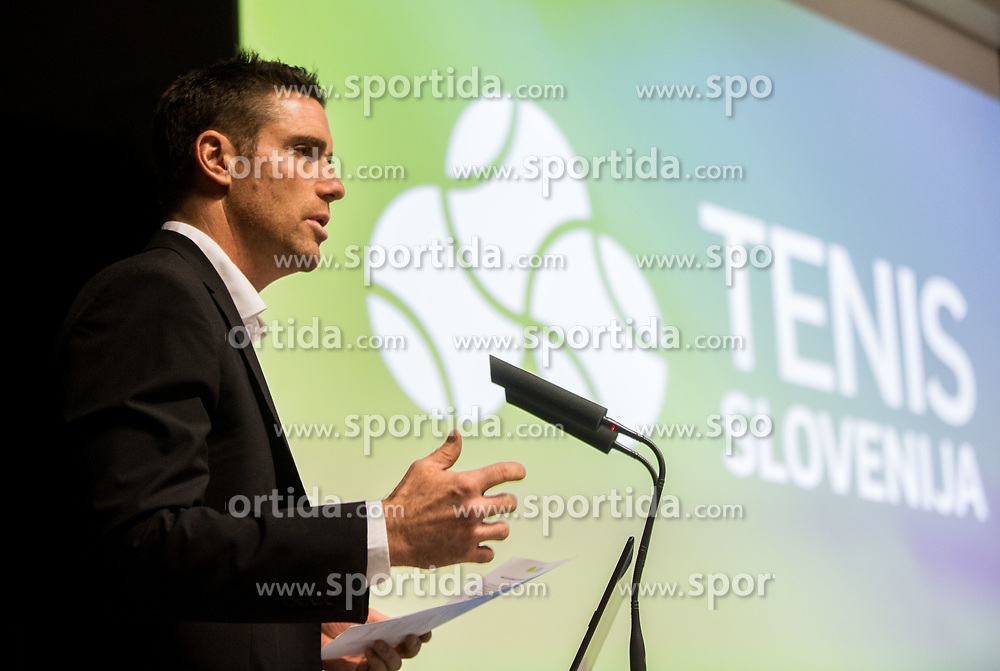 Gregor Krusic during General Assembly of Slovenian Tennis Federation, on December 12, 2018 in Kristalna palaca, Ljubljana, Slovenia. Photo by Vid Ponikvar / Sportida