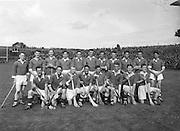 Neg No: .A801/4571-4583...1958AIMHCF..07.09.1958, 09.07.1958, 7th September 1958.All Ireland Minor Hurling Championship - Final...Limerick.05-08.Galway.03-10...Limerick. ..T. Hanley, J. McDonagh, J. Guinane, C. OConnell, J. J. Bresnihan, J. Leonard, M. Hanrahan, B. Kelleher, P. Hartnett, P. Cobbe (Captain), L. Canty, P. Murphy, E. Carey, J. Hayes, S. Sexton.Sub: D. Dillane for J. J. Bresnihan.P. Cobbe (Captain)..Check if Minor League