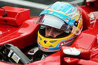 Fernando Alonso (ESP) Ferrari F14-T on the grid.<br /> Japanese Grand Prix, Sunday 5th October 2014. Suzuka, Japan.