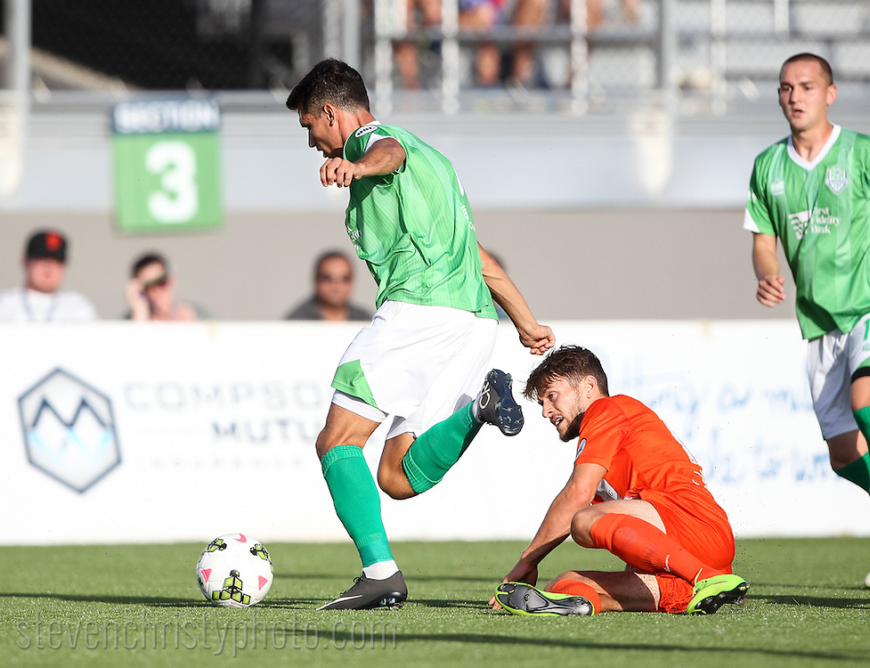 July 11, 2015: The OKC Energy FC plays the Orange County Blues FC in a USL game at Taft Stadium in Oklahoma City, Oklahoma.