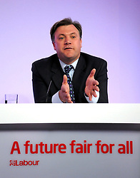 © under license to London News Pictures. 20/01/11.  Ed Miliband MP, Leader of the Labour Party, today appointed Ed Balls as Shadow Chancellor of the Exchequer after Alan Johnson resigned the post. PICTURED: Ed Balls, Labour's Schools Secretary hold a press conference on Tory school plans at Labour HQ, 26 April 2010. Photo credit should read Stephen Simpson/LNP
