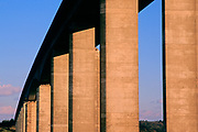 A753W0 Orwell bridge concrete support columns Suffolk England