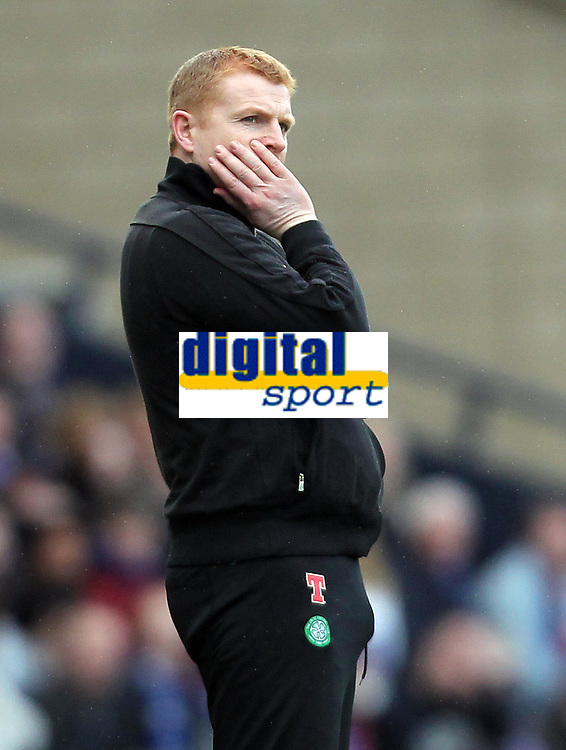 Football - Scottish League Cup Final  - Celtic vs. Kilmarnock<br /> <br /> Neil lennon, manager of Celtic during the Celtic vs. Kilmarnock Scottish Communities League Cup Final match at Hampden Park, Glasgow on March 18th 2012<br /> <br /> <br /> Ian MacNicol/Colorsport
