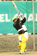 MS Dhoni of the Chennai Super Kings looks to attack a delivery during the Superkings  training session held at St Georges Park in Port Elizabeth on the 17 September 2010..Photo by: Shaun Roy/SPORTZPICS/CLT20