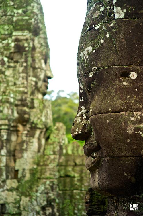 Ancient ruins of Bayon Temple, Angkor, Cambodia.    (Kike Calvo via AP Images)
