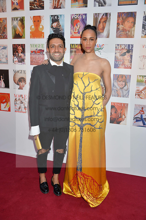 OSMAN YOUSEFZADA and ZAWE ASHTON at British Vogue's Centenary Gala Dinner in Kensington Gardens, London on 23rd May 2016.