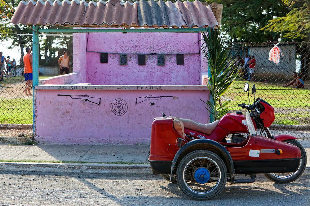 Motorcycle in Niquero, Granma, Cuba.
