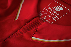 LIVERPOOL, ENGLAND - Friday, April 10, 2015: Liverpool's New Balance 2015/16 home kit. (Pic by New Balance/Propaganda)