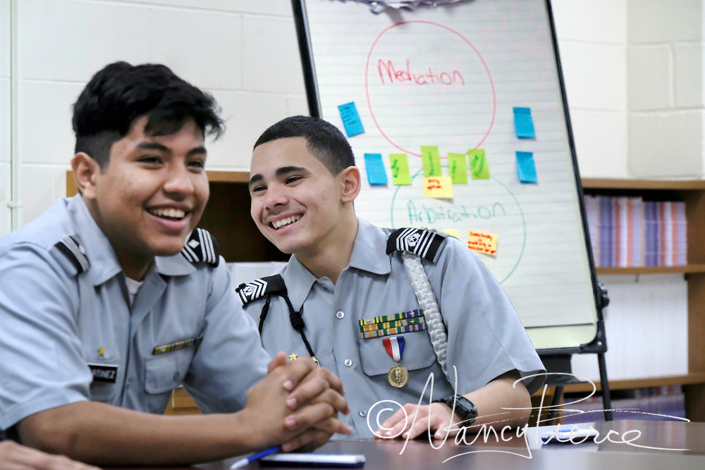 Hawthorne Military, Global Leadership and Public Safety:  This is a JROTC class