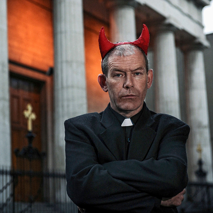 John Deegan, a sexual abuse survivor, outside the Pro Cathedral in Dublin where he protested every Sunday at the inaction of the hierarchy in dealing with cases of clerical sex abuse.