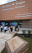Dedication ceremony at Dogan Elementary School, September 29, 2014.