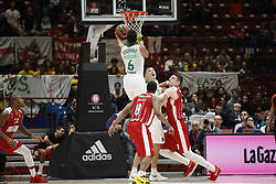 November 9, 2017 - Assago, Milan, Italy - Axel Toupane (#6 Zalgiris Kaunas) shoots a layup during a game of Turkish Airlines EuroLeague basketball between  AX Armani Exchange Milan vs Zalgiris Kaunas at Mediolanum Forum on November 9, 2017 in Milan, Italy. (Credit Image: © Roberto Finizio/NurPhoto via ZUMA Press)