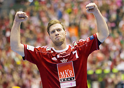 Gabor Csaszar of Veszprem during handball match between RK Celje Pivovarna Lasko (SLO) and MKB Veszprem KS (HUN) in 7th Round of Group B of EHF Champions League 2012/13 on December 1, 2012 in Arena Zlatorog, Celje, Slovenia. Veszprem defeated Celje PL 24-19. (Photo By Vid Ponikvar / Sportida)