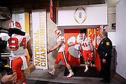 Clemson players head to the field as they prepare for the National Championship game at Raymond James Stadium in Tampa, Monday, January 9, 2017.
